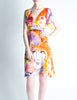 Galliano Vintage Colorful Silk Face Dress - Amarcord Vintage Fashion  - 5