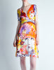 Galliano Vintage Colorful Silk Face Dress - Amarcord Vintage Fashion  - 3