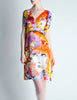 Galliano Vintage Colorful Silk Face Dress - Amarcord Vintage Fashion  - 2