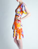 Galliano Vintage Colorful Silk Face Dress - Amarcord Vintage Fashion  - 8