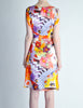 Galliano Vintage Colorful Silk Face Dress - Amarcord Vintage Fashion  - 6