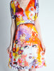 Galliano Vintage Colorful Silk Face Dress - Amarcord Vintage Fashion  - 4