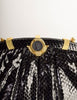 Judith Leiber Vintage Black Snakeskin Cameo Clutch Shoulder Bag
