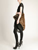 Junya Watanabe Comme des Garcons Black Sheer Brown Fur Dress - Amarcord Vintage Fashion  - 4