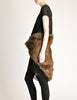 Junya Watanabe Comme des Garcons Black Sheer Brown Fur Dress - Amarcord Vintage Fashion  - 5