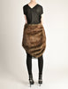 Junya Watanabe Comme des Garcons Black Sheer Brown Fur Dress - Amarcord Vintage Fashion  - 7