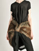 Junya Watanabe Comme des Garcons Black Sheer Brown Fur Dress - Amarcord Vintage Fashion  - 2