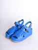 Junya Watanabe Comme des Garçons Vintage Blue Woven Leather Platform Sandals - Amarcord Vintage Fashion  - 2