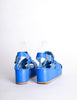 Junya Watanabe Comme des Garçons Vintage Blue Woven Leather Platform Sandals - Amarcord Vintage Fashion  - 6
