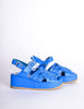 Junya Watanabe Comme des Garçons Vintage Blue Woven Leather Platform Sandals - Amarcord Vintage Fashion  - 3