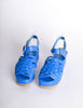 Junya Watanabe Comme des Garçons Vintage Blue Woven Leather Platform Sandals - Amarcord Vintage Fashion  - 4