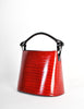Kenzo Vintage Red Lacquered Basket Bag - Amarcord Vintage Fashion  - 2