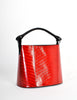 Kenzo Vintage Red Lacquered Basket Bag - Amarcord Vintage Fashion  - 3
