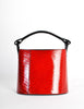 Kenzo Vintage Red Lacquered Basket Bag - Amarcord Vintage Fashion  - 4
