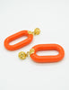 Kenneth Jay Lane Vintage Orange Bracelet and Earring Set - Amarcord Vintage Fashion  - 6