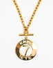 Karl Lagerfeld Vintage Gold Karl 7 ETE Circle Necklace - Amarcord Vintage Fashion  - 2