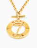 Karl Lagerfeld Vintage Gold Karl 7 ETE Circle Necklace - Amarcord Vintage Fashion  - 5