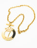 Karl Lagerfeld Vintage Gold Karl 7 ETE Circle Necklace - Amarcord Vintage Fashion  - 3