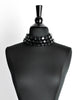 Karl Lagerfeld Vintage Black Beaded Triple Row Choker Necklace - Amarcord Vintage Fashion  - 2