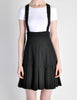 Karl Lagerfeld Vintage Black Pleated Suspender Skirt - Amarcord Vintage Fashion  - 3
