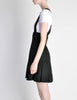 Karl Lagerfeld Vintage Black Pleated Suspender Skirt - Amarcord Vintage Fashion  - 4
