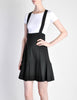 Karl Lagerfeld Vintage Black Pleated Suspender Skirt - Amarcord Vintage Fashion  - 2