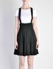 Karl Lagerfeld Vintage Black Pleated Suspender Skirt - Amarcord Vintage Fashion  - 5