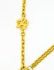 Karl Lagerfeld Vintage Crescent Moon Gold Lariat Necklace - Amarcord Vintage Fashion  - 6