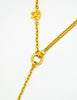 Karl Lagerfeld Vintage Crescent Moon Gold Lariat Necklace - Amarcord Vintage Fashion  - 5
