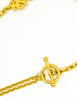 Karl Lagerfeld Vintage Crescent Moon Gold Lariat Necklace - Amarcord Vintage Fashion  - 7