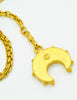 Karl Lagerfeld Vintage Crescent Moon Gold Lariat Necklace - Amarcord Vintage Fashion  - 8