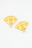 Karl Lagerfeld Vintage Gold Fan Earrings - Amarcord Vintage Fashion  - 4
