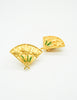 Karl Lagerfeld Vintage Gold Fan Earrings - Amarcord Vintage Fashion  - 2