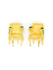 Karl Lagerfeld Vintage Gold Chair Earrings - Amarcord Vintage Fashion  - 2