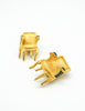 Karl Lagerfeld Vintage Gold Chair Earrings - Amarcord Vintage Fashion  - 4