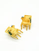 Karl Lagerfeld Vintage Gold Chair Earrings - Amarcord Vintage Fashion  - 3