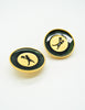 Karl Lagerfeld Vintage Serveur Enamel Disk Earrings - Amarcord Vintage Fashion  - 3