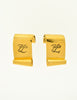 Karl Lagerfeld Vintage Gold Scroll Signature Earrings