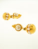 Karl Lagerfeld Vintage Gold and Pearl Dangle Earrings