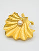 Karl Lagerfeld Vintage Pearl and Oyster Shell Brooch - Amarcord Vintage Fashion  - 2
