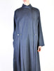 Karl Lagerfeld Vintage Blue Wool Pleated Panel Coat - Amarcord Vintage Fashion  - 4