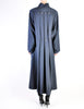 Karl Lagerfeld Vintage Blue Wool Pleated Panel Coat - Amarcord Vintage Fashion  - 7