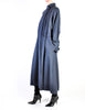 Karl Lagerfeld Vintage Blue Wool Pleated Panel Coat - Amarcord Vintage Fashion  - 6