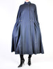 Karl Lagerfeld Vintage Blue Wool Pleated Panel Coat - Amarcord Vintage Fashion  - 2