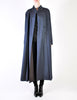 Karl Lagerfeld Vintage Blue Wool Pleated Panel Coat - Amarcord Vintage Fashion  - 3
