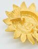 Karl Lagerfeld Vintage Gold Rhinestone Sunflower Earrings - Amarcord Vintage Fashion  - 6