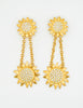 Karl Lagerfeld Vintage Gold Rhinestone Sunflower Earrings - Amarcord Vintage Fashion  - 4