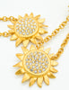 Karl Lagerfeld Vintage Gold Rhinestone Sunflower Earrings - Amarcord Vintage Fashion  - 3