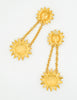 Karl Lagerfeld Vintage Gold Rhinestone Sunflower Earrings - Amarcord Vintage Fashion  - 5