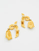Karl Lagerfeld Vintage Dangling Fleur Earrings - Amarcord Vintage Fashion  - 4